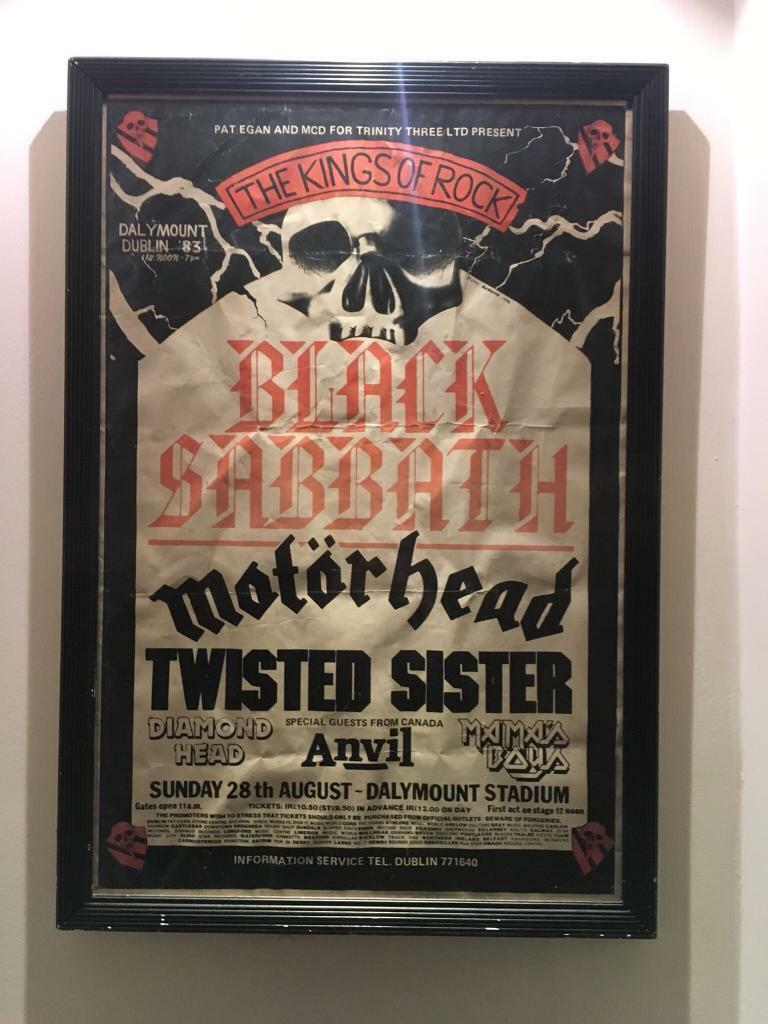 a4121bc76b Vintage black sabbath poster motörhead twisted sister kings of rock anvil  rare JPG 768x1024 Black sabbath