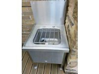 Stainless steel bucket sink ideal for cleaner or caretaker