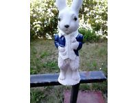 new stone peter rabbit approx 1 foot tall,