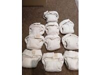 Little Lamb size 2 microfibre nappies x 10