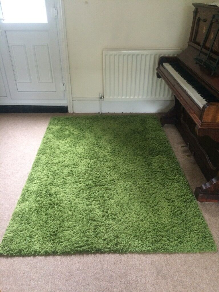 Limited Edition Ikea Hampen Green High Pile Large Carpet