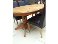 SCS DINING TABLE + 4 REAL LEATHER CHAIRS CAN DLEIVER FREE