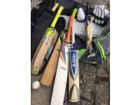 Cricket bats and accessories