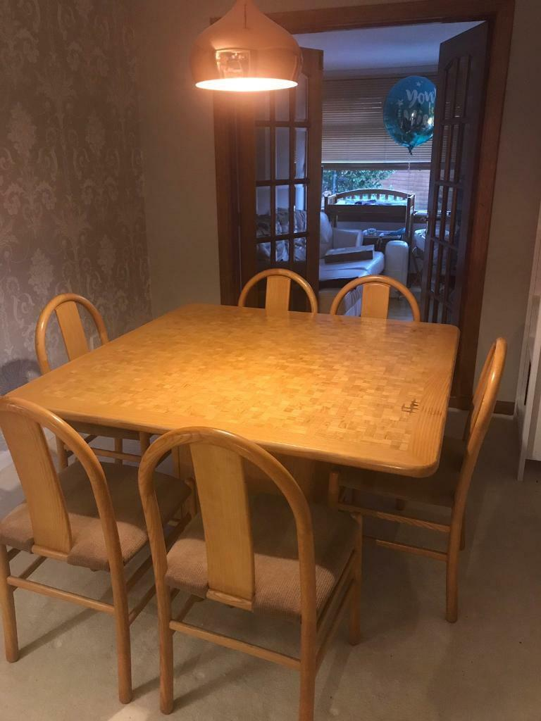 Solid Dining Room Table And 6 Chairs In Murrayfield Edinburgh Gumtree