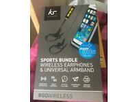 Wireless earphones n case