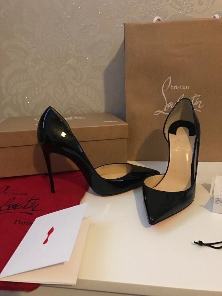 7f2453789bd Iriza 100 Black Patent Christian Louboutin heels