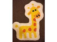 Kids Giraffe Jungle Rug Mat Playroom Bedroom