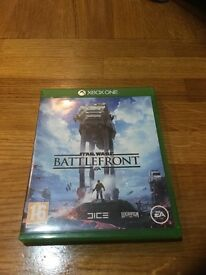 Star Wars battlefront for XBOX ONE excellent condition
