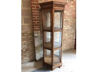 Beautiful display cabinet made of solid wood.