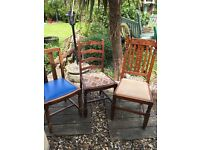 Wooden Farmhouse Dining Chairs £10.00 EACH