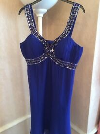 Womens royal blue evening wear dress