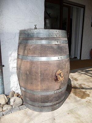 Tonneau en bois, cuve, baril de pluie., fût chêne, vin 225 litre chêne - bois