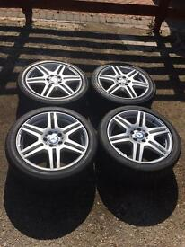 18 inch Mercedes amg wheels and tyres