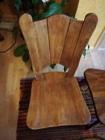 4 heavy wood chairs in a good condition