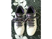 Reebok ladies white & purple trainers size 6