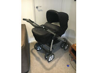 Silver Cross Sleepover Deluxe Linear Chassis Pram/Pushchair/Travel System