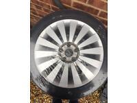 "Passat 17"" alloys with tyres"