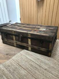 Vintage Steamer Travel Ornate Trunk