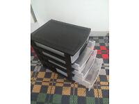 3x Plastic Storage Drawers