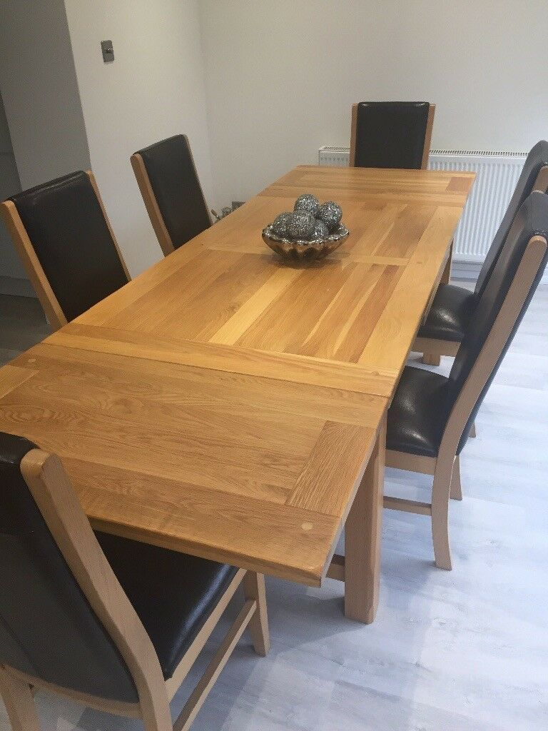 Reid dining room table and 6 chairs | in Lenzie, Glasgow | Gumtree