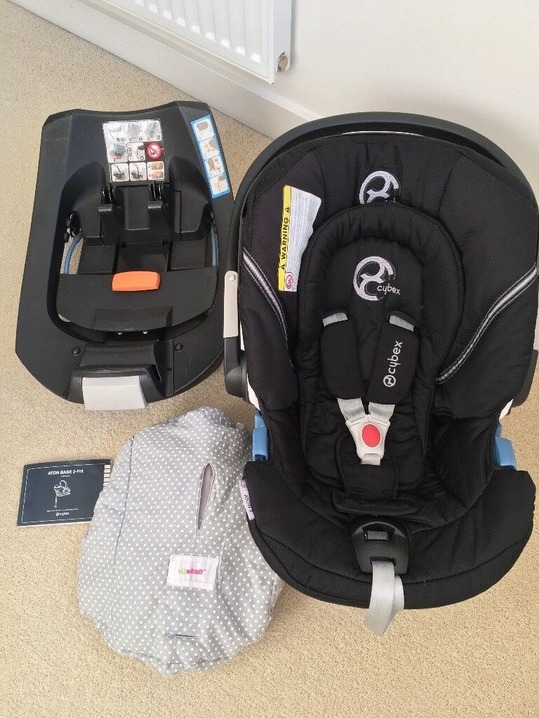 Cybex Aton 2 Baby Car Seat With Cybex 2 Fix Isofix Base In