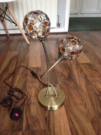 Gold table lamp - Dunelm