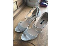 Quiz sparkly shoes size 6 silver