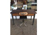Retro Desk, 2 draws, vintage Desk, mid century