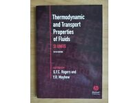 Thermodynamic and Transport Properties of Fluids, SI UNITS, 5th Edition