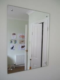 Bargain Bathroom or bedroom rectangular mirror in excellent condition