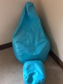 Bean bag and foot stool