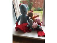 In the night garden, Peppa pig soft toy bundle