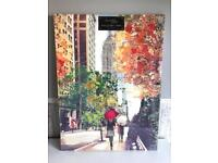 BRAND NEW TREES / LEAVES AUTUMN NEW YORK CANVAS 57 X 77CM