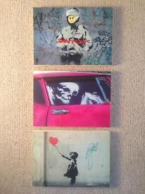 Banksy block art prints