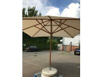Large Parasole and Concrete Base 3.6m Sq Great Condition 2 available