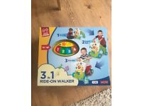 Brand new Hap-p-kid fisher price 3 in 1 ride on walker and car ride little learner sit and play