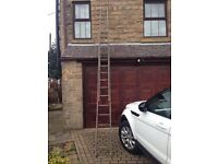 Ladders - wooden - extendable to 8 metres