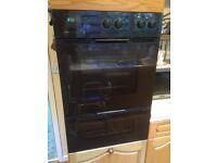 Zanussi double oven and extractor hood