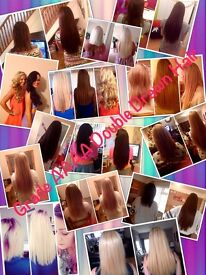 Hair Extensions * Shrinkies, micro rings and pre bonds *