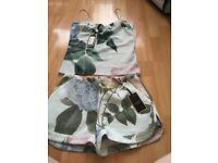 Ted baker distinguishing rose shorts and cami set size 1