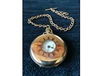 Antique Waltham (USA) 15 Jewel Half Hunter Gold Pocket Watch