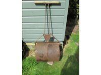 Vintage heavy duty cast iron garden roller by Samson