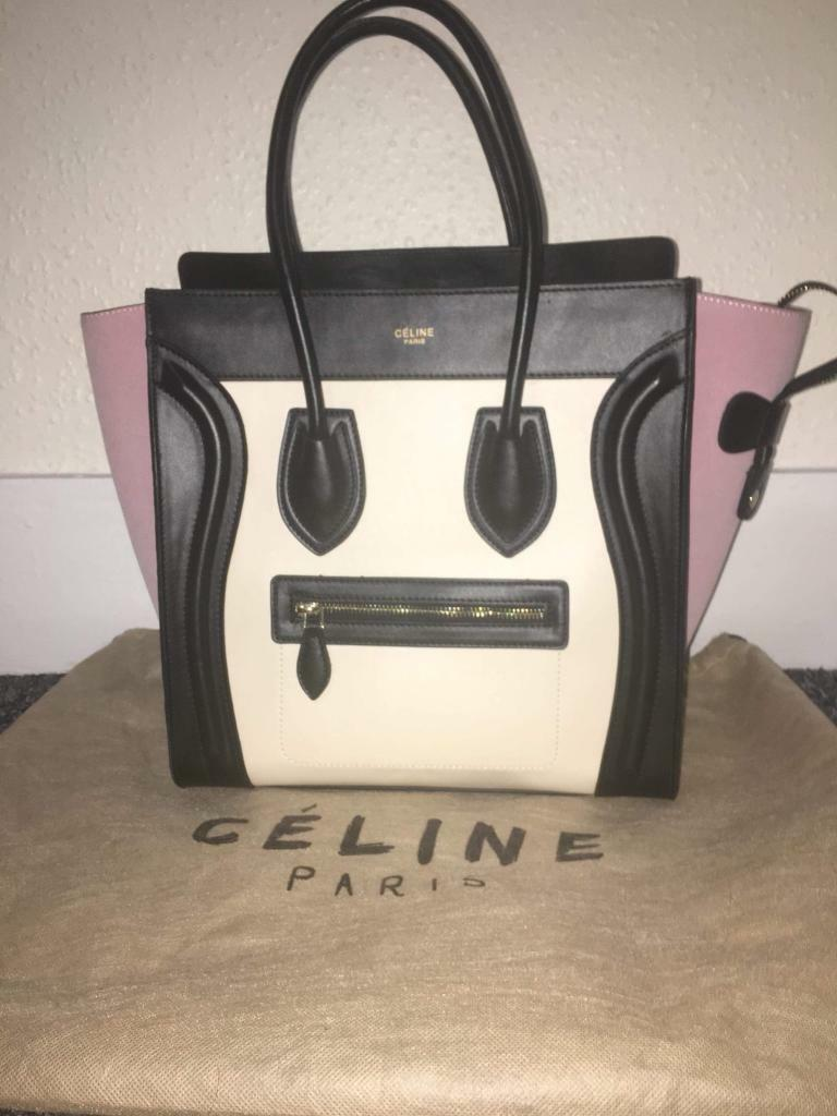 be440d6a98 Céline Bag Black White   Pink Leather