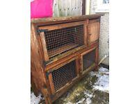 Rabbit/guinea double storey cage