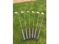 Left-handed Adams Super S PW-5 golf clubs