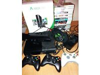 XBOX 360 250GB + Kinect + 3 Controllers + Turtle Beach Headset + Games