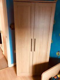 Childrens Double Wardrobe - Mamas and Papas Rialto Oak - Kids Wardrobe Storage