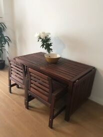 Ikea Wooden Table & Chairs
