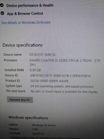 Pc specialist desktop comp Intel i5 2.7ghz 8gb ram