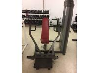 Commercial gym stack and pin weights machine